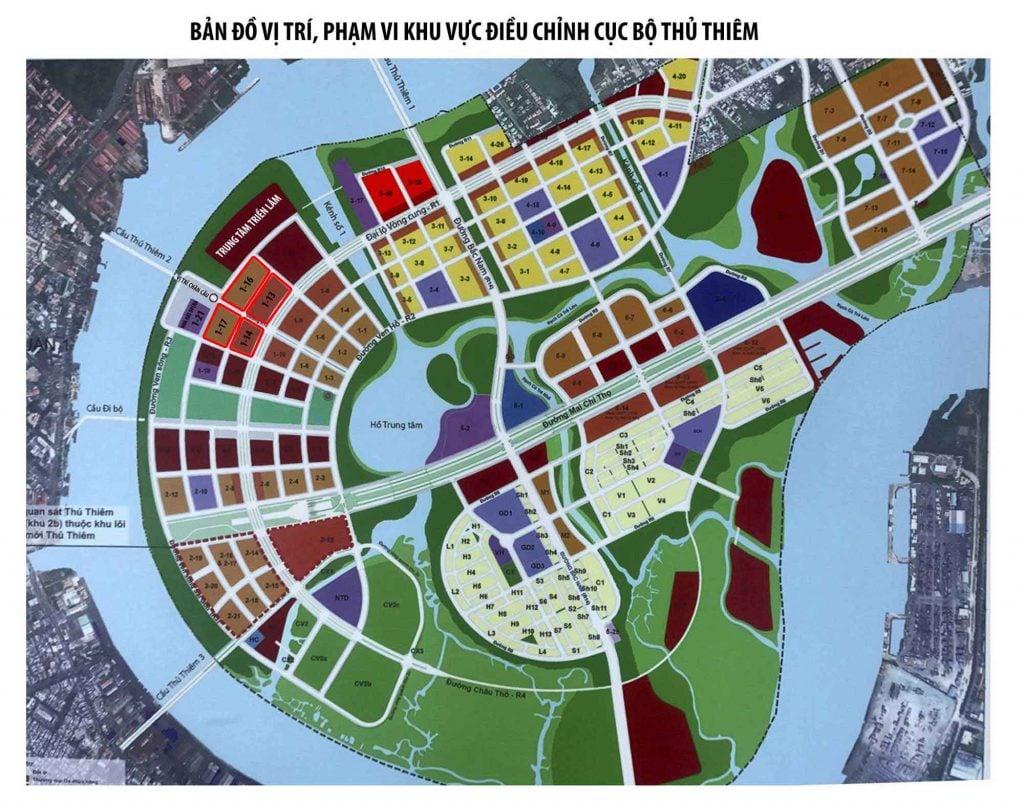 Bản đồ quy hoạch Metropole Thủ Thiêm