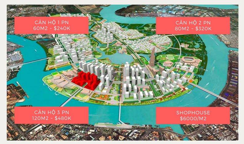Đơn giá căn hộ Sonkim Land Thủ Thiêm Quận 2