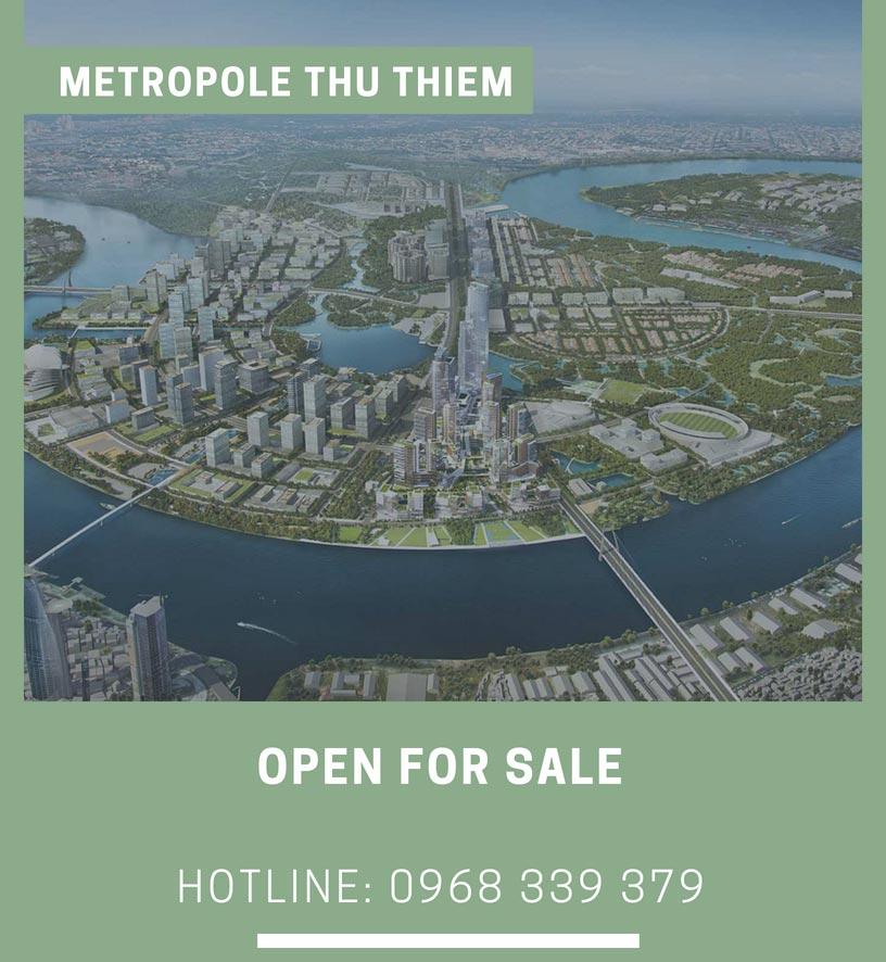 Mở bán đợt 1 căn hộ Metropole Thủ Thiêm