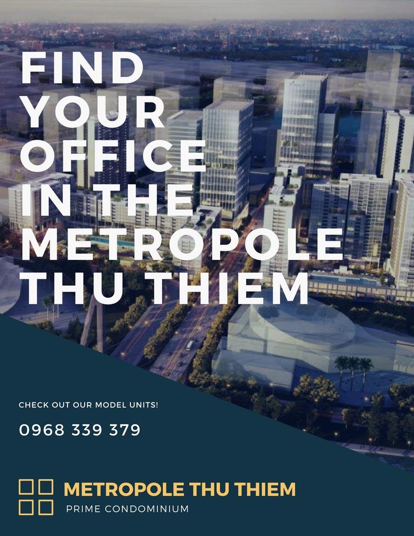 Văn phòng Metropole Thủ Thiêm cho thuê và bán