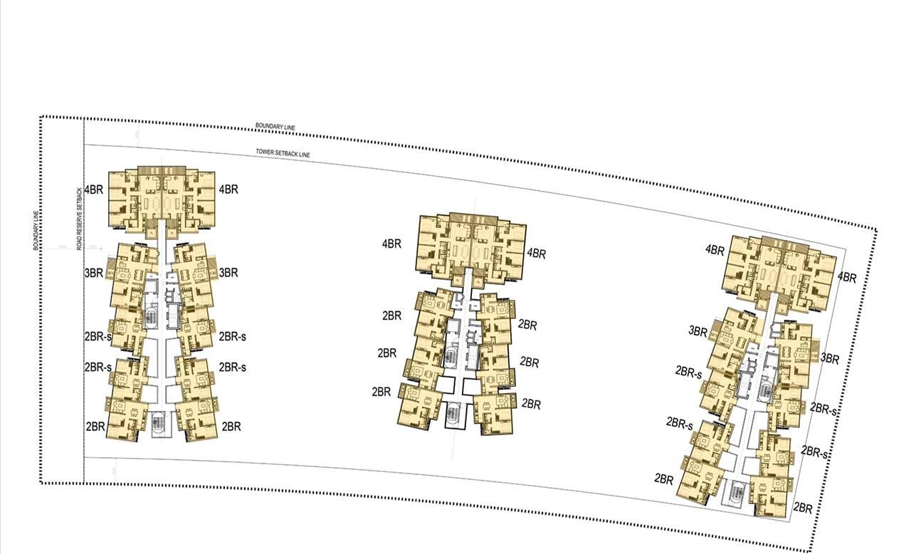 Mặt bằng căn hộ Metropole Thủ Thiêm Lô 1-16